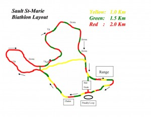 Biathlon trail in colour
