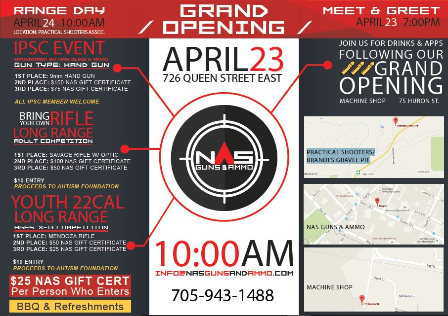 NAS Store Grand Opening Events