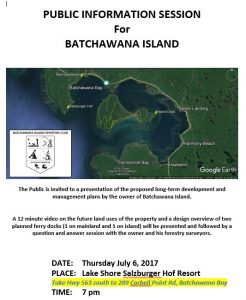 Public Information Session for Batchawana Island